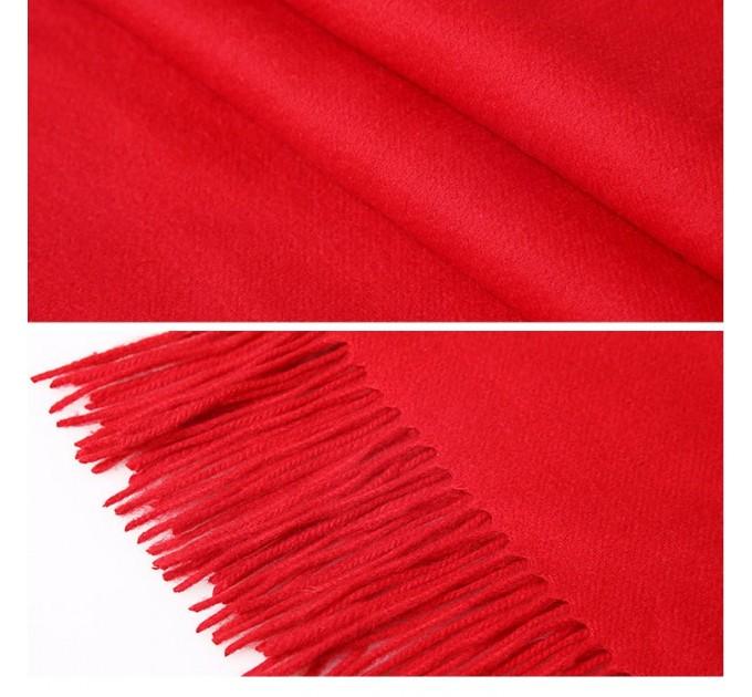 Шарф жіночий червоний кашемір