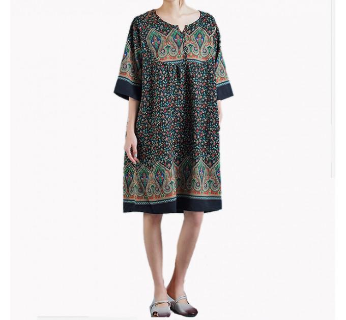 Платье Индийское узоры