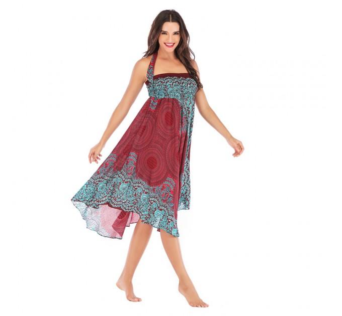 Сарафан-юбка бордовый