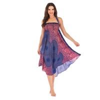 Сарафан-юбка летний синий