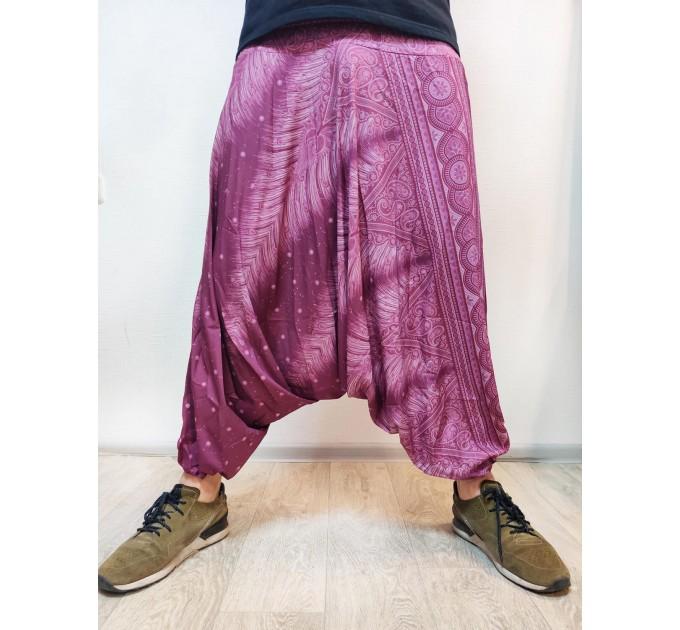 Чоловічі штани афгані бузкові