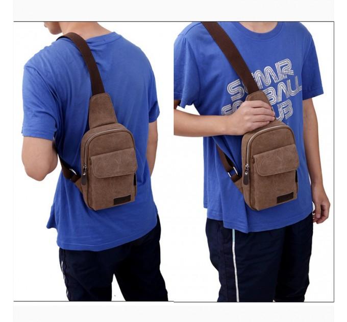 Рюкзак брезентовий на одне плече