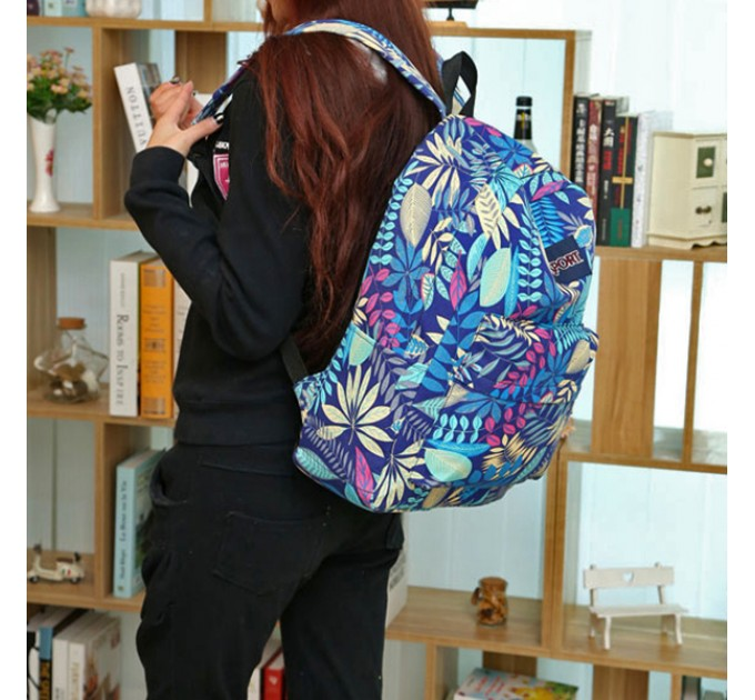 Рюкзак повседневный в листьях