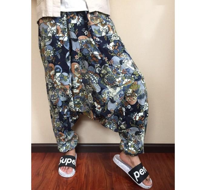 Чоловічі штани гареми стильні з матнею
