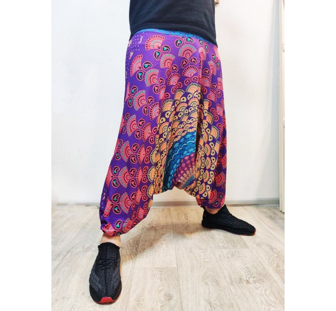 Чоловічі штани зуави violet