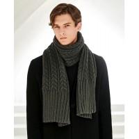 Чоловічий шарф косичка серій