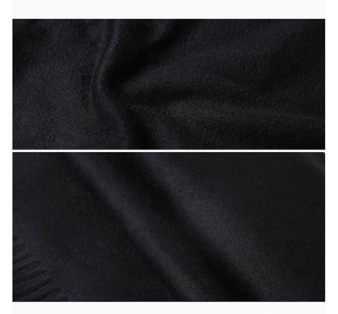 Шарф жіночий чорний кашемір