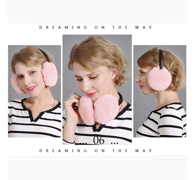 Хутряні навушники рожеве хутро