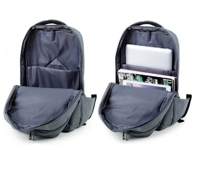 Рюкзак міський сірий лаконічний