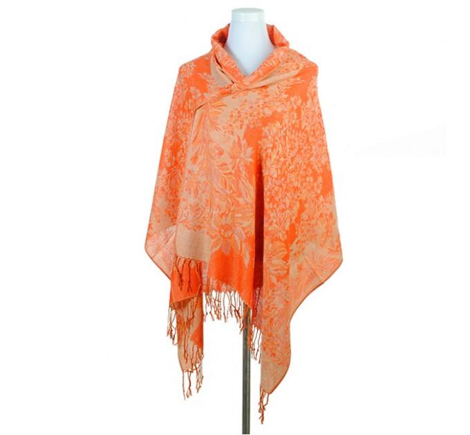 Палантин жіночий оранжевий