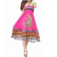 Індійський сарафан рожевий річний короткий