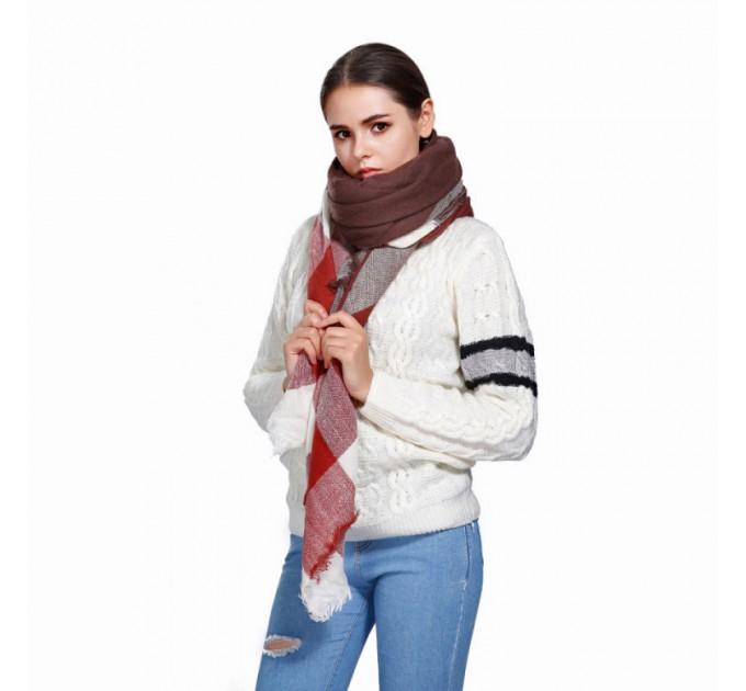 Палантин шарф картатий
