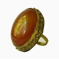 Перстень с камнем сердолик