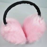 Меховые наушники розовое чудо