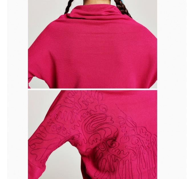 Сукня трикотажна бордова мини