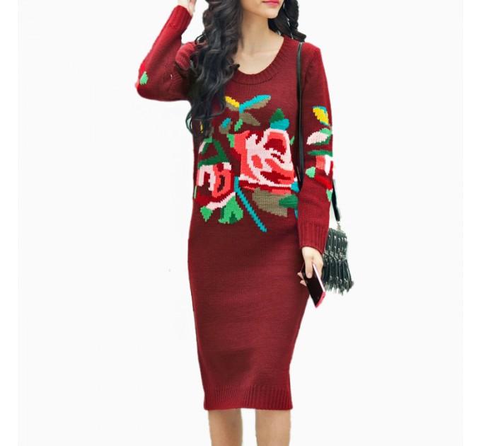 платье Зимнее red
