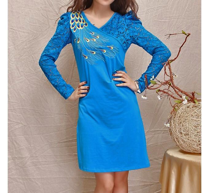 Сукня вечірня синя