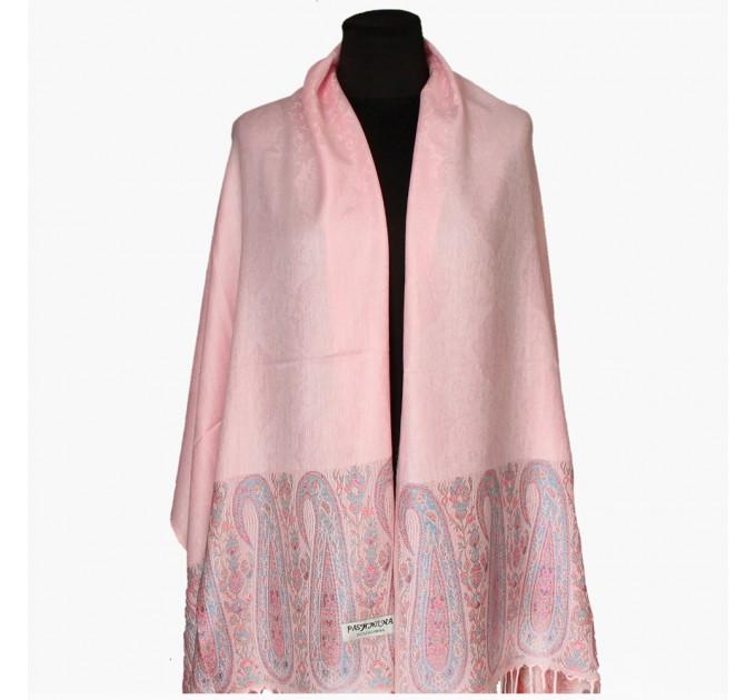 Палантин шарф розовый обожаемый