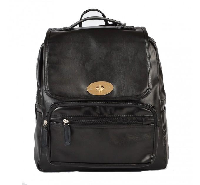 Рюкзак портфель черный городской
