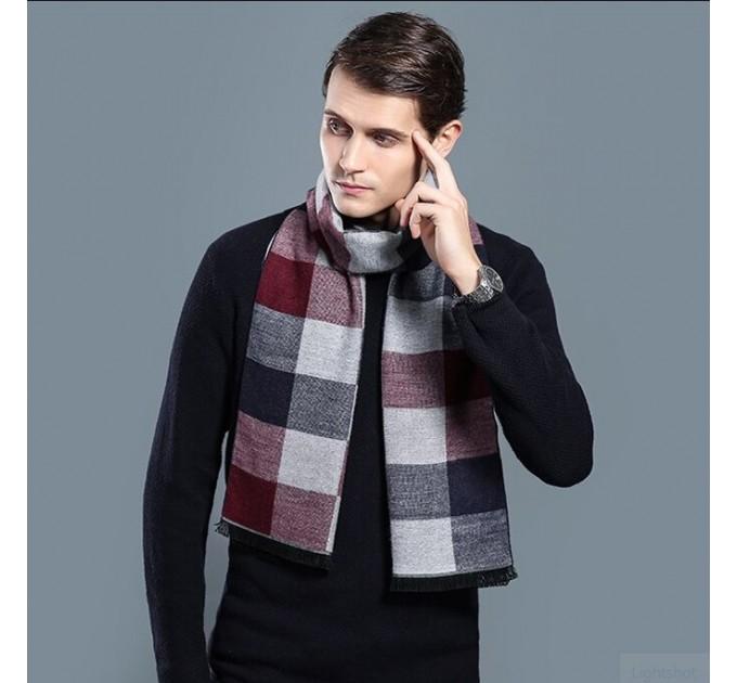 Чоловічий шарф картатий