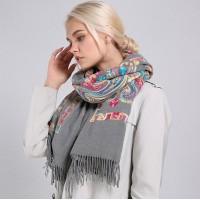 Палантин шарф кашеміровий grey