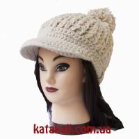 шапка-кепка Вязаная