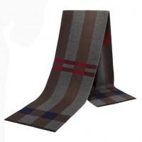 Чоловічий шарф сіро-коричневий