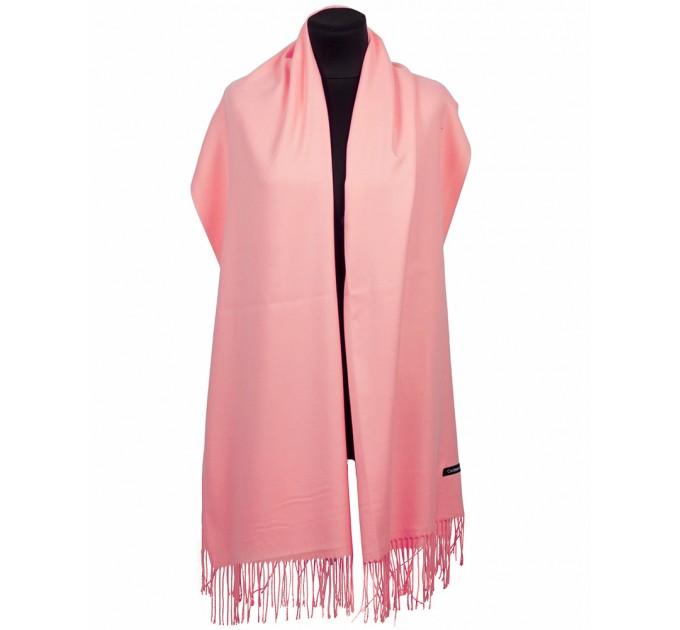 Шарф рожевий кашеміровий