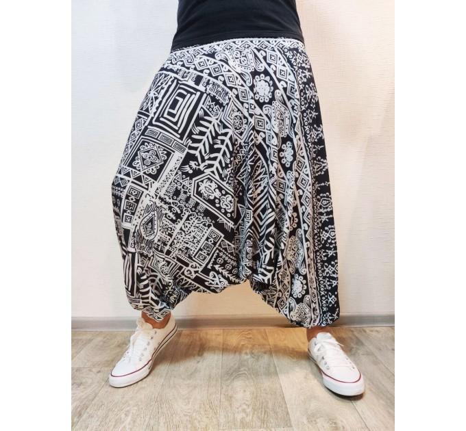 Штани з матнею чорно-білі