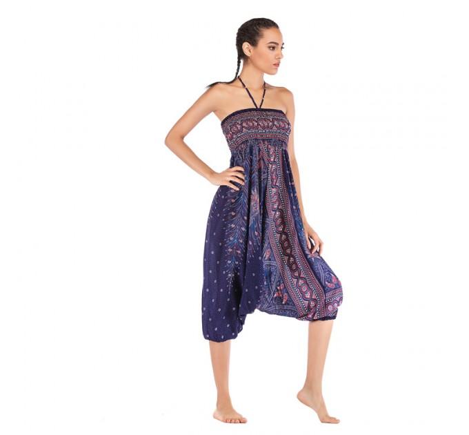 Аладіни штани жіночі сині стильні peacock