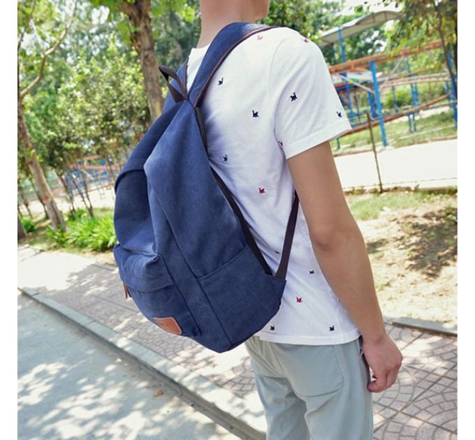 Рюкзак городской Blue брезент