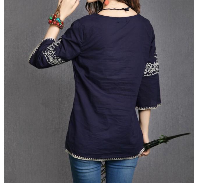 блуза синяя Юг