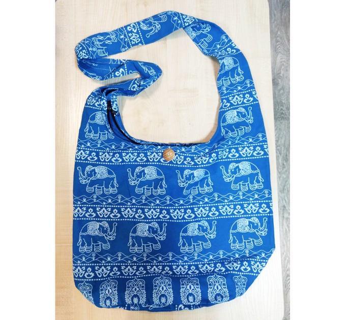 Сумка торба блакитна зі слоном