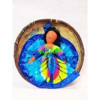 Тарелка сувенирная плетенная