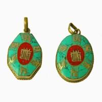 Тибетський кулон з Калачакрою