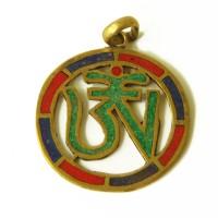 Тибетський металевий кулон знак Ом