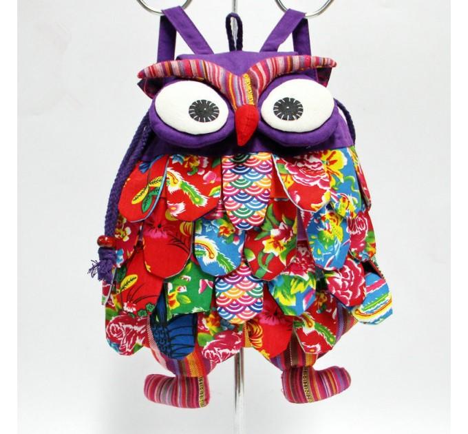 Детский рюкзак Сова мягкий