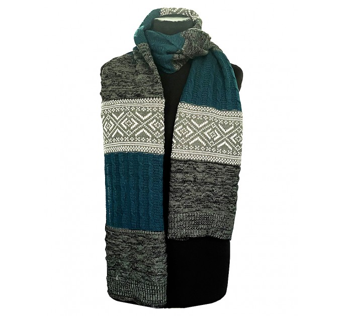 Мужской шарф вязаный