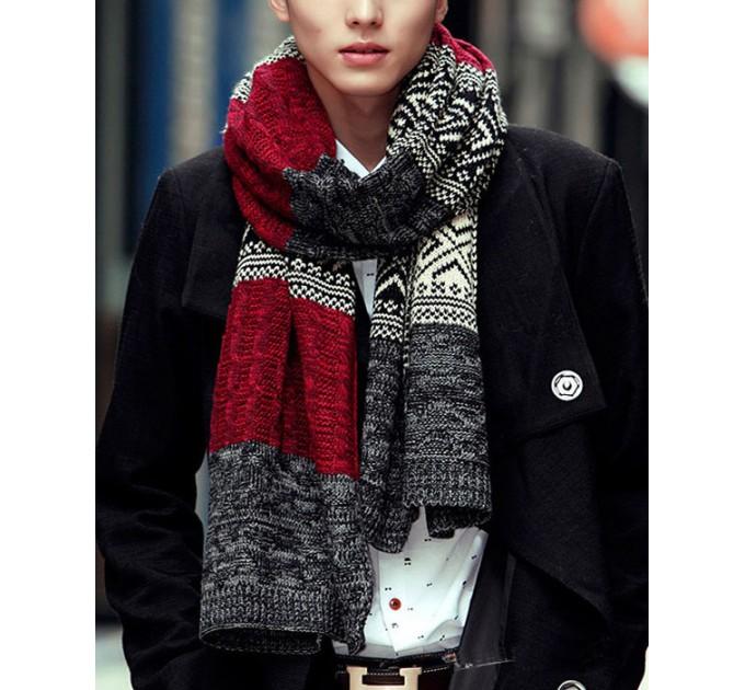 В'язаний шарф смугастий