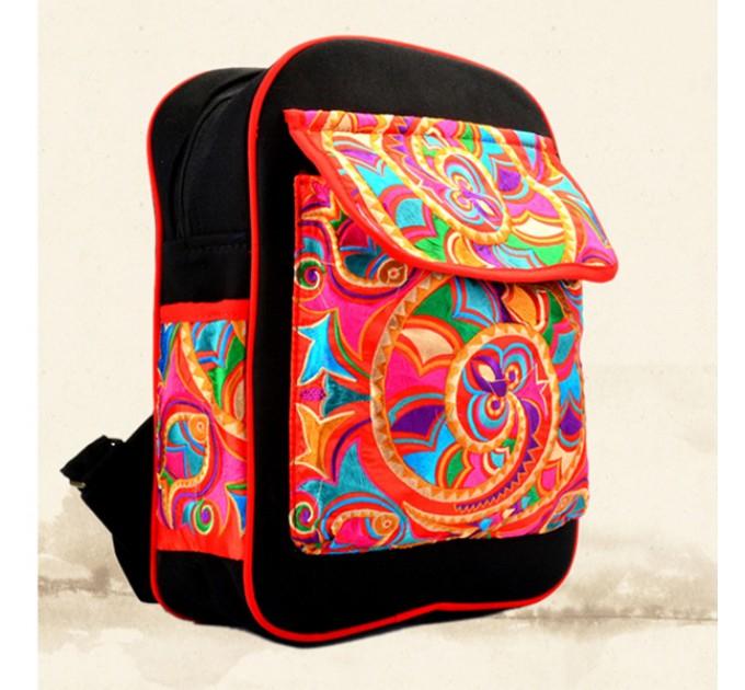Вишитий тканинний рюкзак