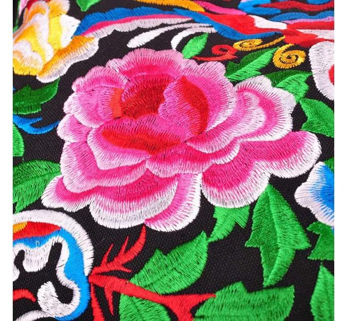 Сумка тканинна з квітами