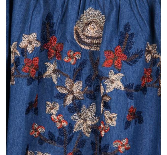 Туніка джинсова з вишивкою