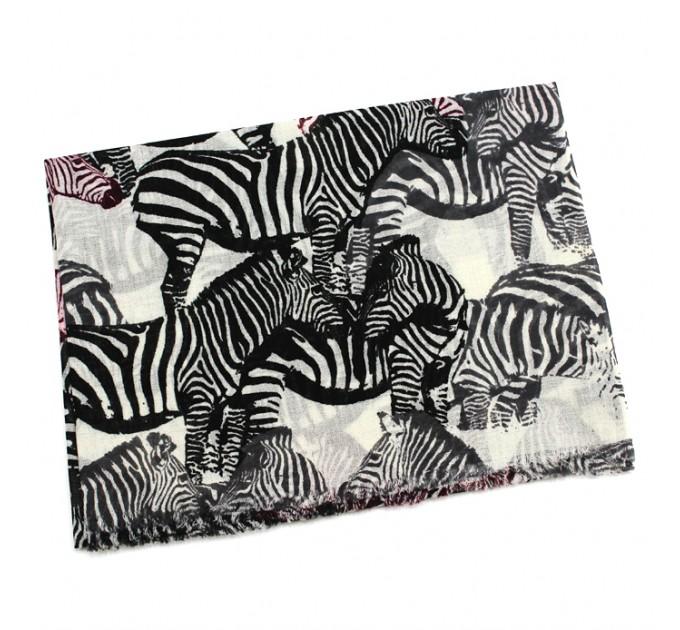 шарф шерстяной Зебры