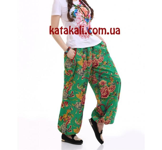 женские брюки Кама green