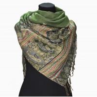 Палантин шарф оливковий