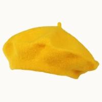 Берет женский желтый