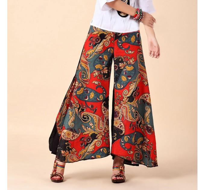 женские брюки Ишина red