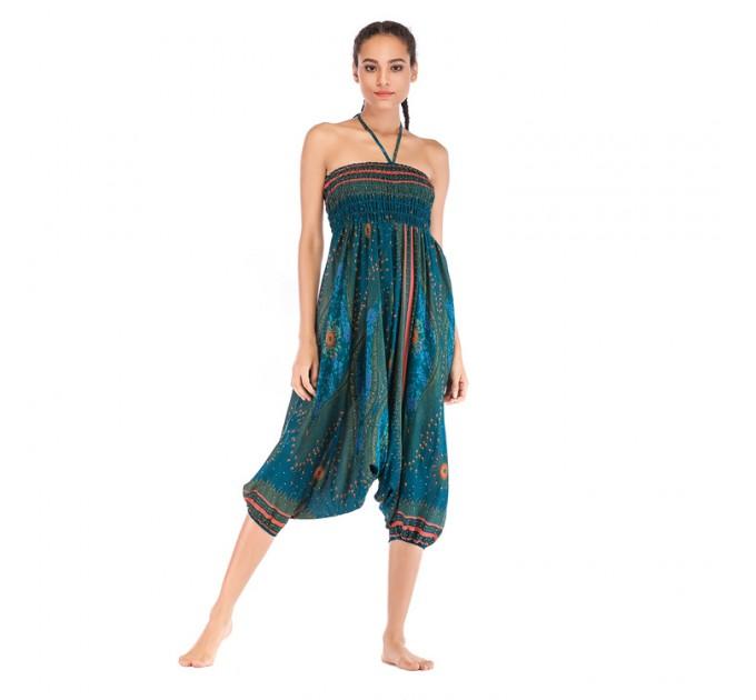 Аладіни штани жіночі бірюзові Harem style