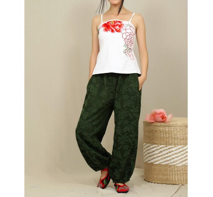 женские брюки Апсара green