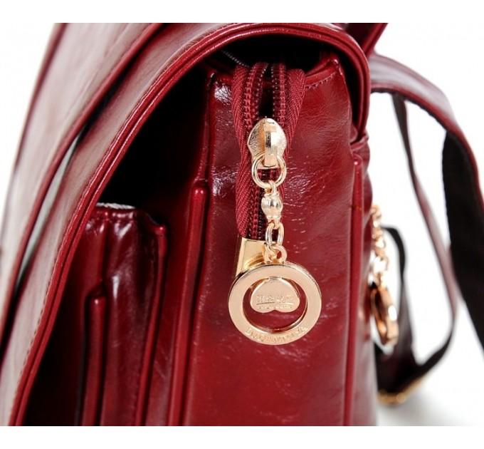 Женский рюкзак-сумка кожа